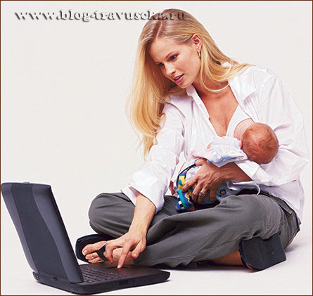 женщина дома и на работе