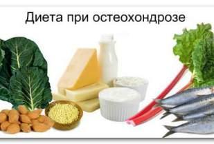 Диеты при остеохондроз жертвы синдрома диеты