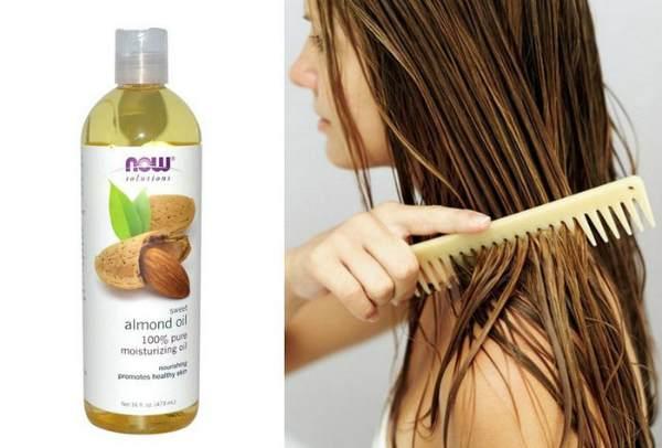 Миндальное масло для волос с эфирным