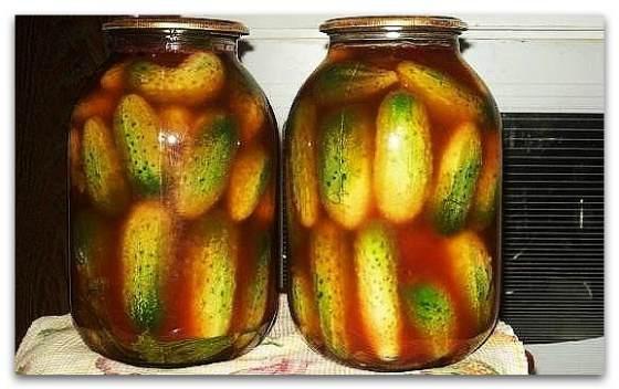 Соление огурцов с кетчупом