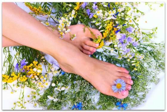 Ванночки для ног с травами и маслами